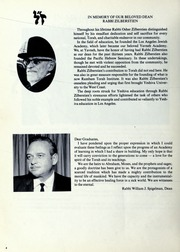 Page 8, 1979 Edition, Yavneh Hebrew Academy - Yearbook (Los Angeles, CA) online yearbook collection