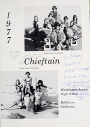 Page 5, 1977 Edition, Washington Junior High School - Chieftain Yearbook (Bellflower, CA) online yearbook collection