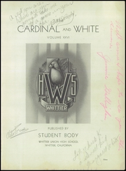 Page 5, 1936 Edition, Whittier Union High School - Cardinal Yearbook (Whittier, CA) online yearbook collection
