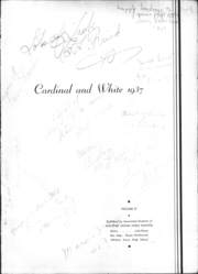 Page 16, 1937 Edition, Whittier Union High School - Cardinal Yearbook (Whittier, CA) online yearbook collection