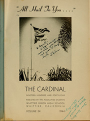 Page 5, 1944 Edition, Whittier Union High School - Cardinal Yearbook (Whittier, CA) online yearbook collection