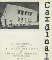 Page 5, 1951 Edition, Whittier Union High School - Cardinal Yearbook (Whittier, CA) online yearbook collection