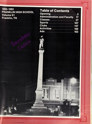 Page 5, 1983 Edition, Franklin High School - Cornerstone Yearbook (Franklin, TN) online yearbook collection