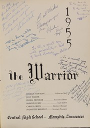 Page 5, 1955 Edition, Central High School - Warrior Yearbook (Memphis, TN) online yearbook collection