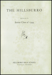 Page 5, 1944 Edition, Hillsboro High School - Hillsburro Yearbook (Nashville, TN) online yearbook collection