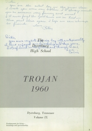 Page 7, 1960 Edition, Dyersburg High School - Trojan Yearbook (Dyersburg, TN) online yearbook collection