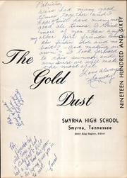 Page 5, 1960 Edition, Smyrna High School - Gold Dust Yearbook (Smyrna, TN) online yearbook collection