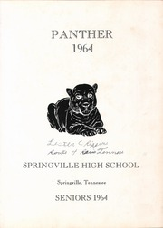 Page 5, 1964 Edition, Springville High School - Panther Yearbook (Springville, TN) online yearbook collection