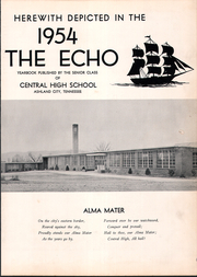 Page 7, 1954 Edition, Cheatham County High School - Echo Yearbook (Ashland City, TN) online yearbook collection