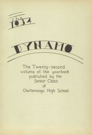Page 7, 1934 Edition, Chattanooga High School - Dynamo Yearbook (Chattanooga, TN) online yearbook collection