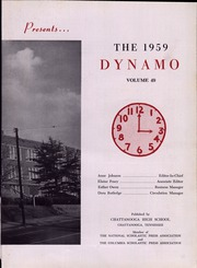 Page 7, 1959 Edition, Chattanooga High School - Dynamo Yearbook (Chattanooga, TN) online yearbook collection