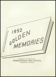 Page 5, 1952 Edition, Hendersonville High School - Golden Memories Yearbook (Hendersonville, TN) online yearbook collection