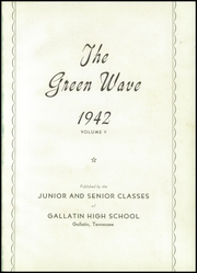 Page 5, 1942 Edition, Gallatin High School - Green Wave Yearbook (Gallatin, TN) online yearbook collection