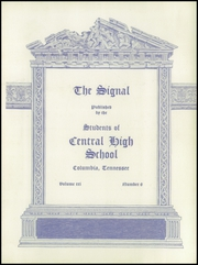 Page 9, 1937 Edition, Central High School - Signal Yearbook (Columbia, TN) online yearbook collection