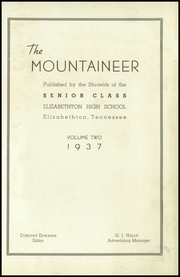Page 5, 1937 Edition, Elizabethton High School - Mountaineer Yearbook (Elizabethton, TN) online yearbook collection