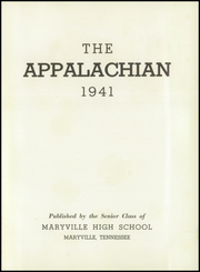Page 5, 1941 Edition, Maryville High School - Appalachian Yearbook (Maryville, TN) online yearbook collection
