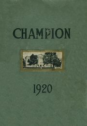 Page 1, 1920 Edition, Central High School - Champion Yearbook (Chattanooga, TN) online yearbook collection