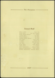Page 6, 1920 Edition, Central High School - Champion Yearbook (Chattanooga, TN) online yearbook collection
