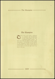 Page 9, 1920 Edition, Central High School - Champion Yearbook (Chattanooga, TN) online yearbook collection