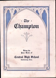 Page 7, 1930 Edition, Central High School - Champion Yearbook (Chattanooga, TN) online yearbook collection