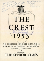 Page 3, 1953 Edition, Giles County High School - Crest Yearbook (Pulaski, TN) online yearbook collection