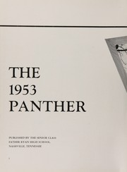 Page 6, 1953 Edition, Father Ryan High School - Panther Yearbook (Nashville, TN) online yearbook collection