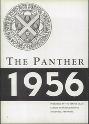 Page 6, 1956 Edition, Father Ryan High School - Panther Yearbook (Nashville, TN) online yearbook collection