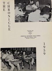 Page 5, 1959 Edition, Christian Brothers High School - Chronicle Yearbook (Memphis, TN) online yearbook collection