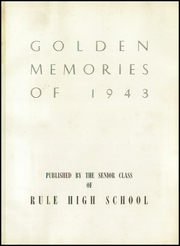 Page 5, 1943 Edition, Rule High School - Golden Memories Yearbook (Knoxville, TN) online yearbook collection