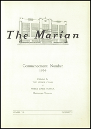 Page 5, 1936 Edition, Notre Dame High School - Marian Yearbook (Chattanooga, TN) online yearbook collection