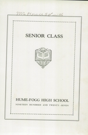 Page 9, 1927 Edition, Hume Fogg High School - Techs Book Yearbook (Nashville, TN) online yearbook collection