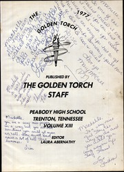 Page 5, 1977 Edition, Peabody High School - Golden Torch Yearbook (Trenton, TN) online yearbook collection