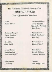 Page 9, 1975 Edition, York Institute - Mountaineer Yearbook (Jamestown, TN) online yearbook collection