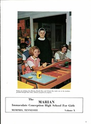 Page 7, 1968 Edition, Immaculate Conception High School - Marian Yearbook (Memphis, TN) online yearbook collection