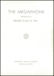 Page 5, 1941 Edition, Central High School - Megaphone Yearbook (Nashville, TN) online yearbook collection