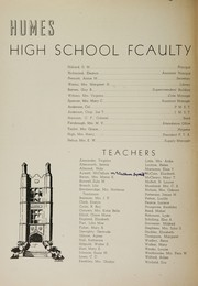 Page 6, 1944 Edition, Humes High School - Senior Herald Yearbook (Memphis, TN) online yearbook collection