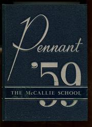 McCallie High School - Pennant Yearbook (Chattanooga, TN) online yearbook collection, 1959 Edition, Page 1