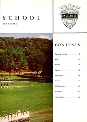 Page 7, 1960 Edition, McCallie High School - Pennant Yearbook (Chattanooga, TN) online yearbook collection