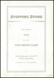Page 7, 1936 Edition, Trousdale County High School - Stepping Stone Yearbook (Hartsville, TN) online yearbook collection