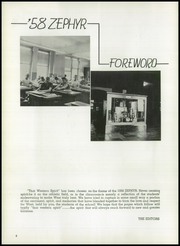 Page 8, 1958 Edition, West End High School - Zephyr Yearbook (Nashville, TN) online yearbook collection