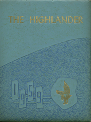 1959 Edition, Cloudland High School - Highlander Yearbook (Roan Mountain, TN)