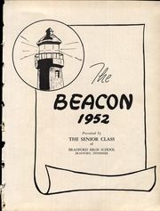Page 7, 1952 Edition, Bradford High School - Beacon Yearbook (Bradford, TN) online yearbook collection
