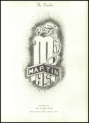 Page 5, 1955 Edition, Martin High School - Panther Yearbook (Martin, TN) online yearbook collection