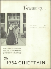 Page 5, 1954 Edition, Cumberland High School - Chieftain Yearbook (Nashville, TN) online yearbook collection