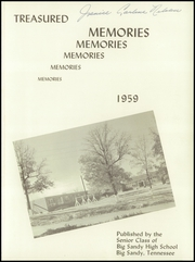 Page 5, 1959 Edition, Big Sandy High School - Treasured Memories Yearbook (Big Sandy, TN) online yearbook collection
