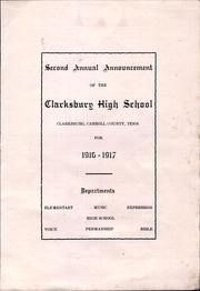 Page 3, 1917 Edition, Clarksburg High School - Yearbook (Clarksburg, TN) online yearbook collection