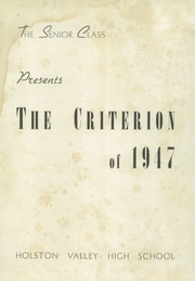 Page 5, 1947 Edition, Holston Valley High School - Criterion Yearbook (Bristol, TN) online yearbook collection