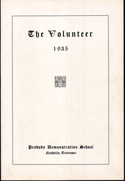 Page 7, 1935 Edition, Peabody Demonstration School - Volunteer Yearbook (Nashville, TN) online yearbook collection