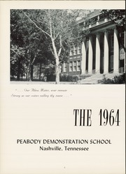 Page 6, 1964 Edition, Peabody Demonstration School - Volunteer Yearbook (Nashville, TN) online yearbook collection