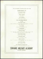 Page 106, 1947 Edition, Sewanee Military Academy - Saber Yearbook (Sewanee, TN) online yearbook collection